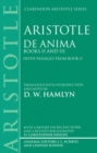 Image for De Anima : Books II and III (with passages from Book I)