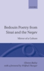 Image for Bedouin Poetry from Sinai and the Negev : Mirror of a Culture