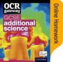Image for OCR Gateway GCSE Additional Science Online Homework