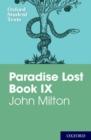 Image for Oxford Student Texts: John Milton: Paradise Lost Book IX