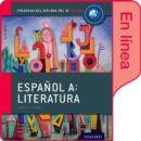 Image for Espanol A: Literatura, Libro del Alumno digital en linea: Programa del Diploma del IB Oxford