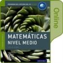 Image for IB Matematicas Nivel Medio Libro del Alumno digital en linea: Programa del Diploma del IB Oxford