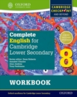 Image for Complete English for Cambridge Secondary 1Student workbook 8