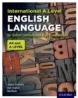 Image for International A level English language for Oxford International AQA examinations