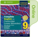 Image for Complete English for Cambridge Secondary 1Student book 9