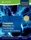 Image for Complete physics for Cambridge secondary 1 student book  : for Cambridge checkpoint and beyond