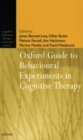 Image for Oxford guide to behavioural experiments in cognitive therapy