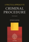 Image for A practical approach to criminal procedure