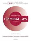 Image for Criminal law  : law revision and study guide