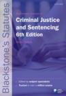 Image for Blackstone's statutes on criminal justice & sentencing