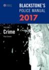 Image for Blackstone's police manualVolume 1,: Crime 2017