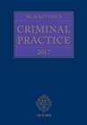 Image for Blackstone's criminal practice 2017