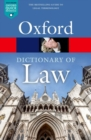 Image for A dictionary of law