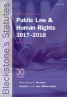 Image for Blackstone's statutes on public law & human rights, 2017-2018