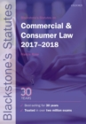 Image for Blackstone's statutes on commercial & consumer law 2017-2018