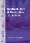 Image for Blackstone's statutes on contract, tort & restitution, 2018-2019
