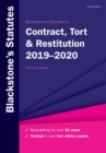 Image for Blackstone's statutes on contract, tort & restitution 2019-2020