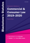 Image for Blackstone's statutes on commercial & consumer law 2019-2020