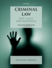Image for Criminal law  : text, cases, and materials