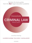 Image for Criminal Law Concentrate : Law Revision and Study Guide