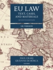 Image for EU law  : text, cases, and materials