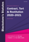 Image for Blackstone's statutes on contract, tort & restitution 2020-2021