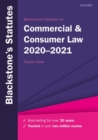 Image for Blackstone's statutes on commercial & consumer law, 2020-2021