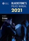 Image for Blackstone's police manuals 2021Volume 1,: Crime