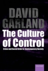 Image for The culture of control  : crime and social order in contemporary society