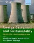 Image for Energy systems and sustainability