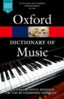 Image for The Oxford dictionary of music