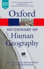Image for A dictionary of human geography