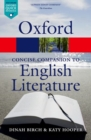 Image for The concise Oxford companion to English literature