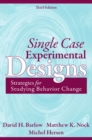 Image for Single case experimental designs  : strategies for studying behavior for change