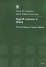Image for Digital Inclusion in Wales : Thirteenth Report of Session 2008-09 - Report, Together with Formal Minutes, Oral and Written Evidence