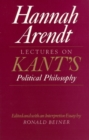 Image for Lectures on Kant's political philosophy