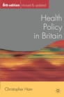 Image for Health policy in Britain