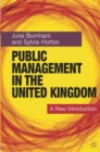 Image for Public management in the United Kingdom  : a new introduction