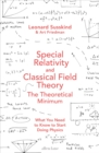 Image for Special relativity and classical field theory