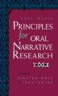 Image for Principles for Oral Narrative Research