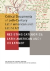 Image for Resisting categories: Latin American and/or Latino? : v. I