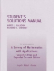 Image for A Survey of Mathematics with Applications : Student's Solutions Manual