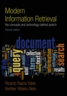 Image for Modern information retrieval  : the concepts and technology behind search