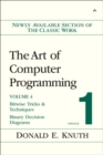 Image for The art of computer programmingVol. 4 Fascicle 1: Bitwise tricks and techniques; binary decision diagrams