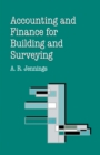 Image for Accounting and Finance for Building and Surveying