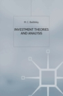 Image for Investment  : theories and analysis