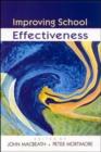 Image for Improving school effectiveness
