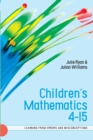 Image for Children's mathematics 4-15  : learning from errors and misconceptions