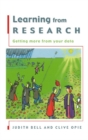 Image for Learning from research: getting more from your data