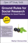 Image for Ground rules for social research  : guidelines for good practice